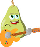 Pear guitar player Stock Photography