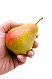 Pear In Hand Stock Photos