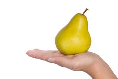 Pear in hand Royalty Free Stock Photos