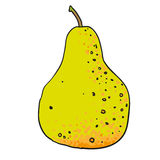 Pear hand drawn fruits isolated vector Stock Image