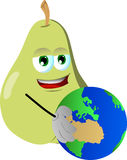 Pear holding Earth Royalty Free Stock Photo