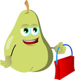 Pear holding an empty bag Stock Images