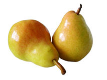 Pear isolated. Two pear isolated royalty free stock images