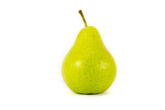 Pear. Isolated object large green pear Stock Photos