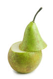 Pear isolated on white background. Fresh green pear isolated on white background Royalty Free Stock Image