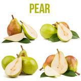 Pear isolated on white. Background stock photos