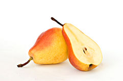 Pear and its section Royalty Free Stock Photos