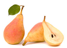 Pear and its section Royalty Free Stock Images