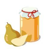 Pear jam. Jam and pear. vector illustration Stock Photos