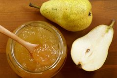 Pear jam Stock Photos