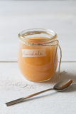 Pear jam in a jar Stock Image