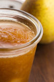 Pear jam with orange Royalty Free Stock Image