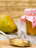 Pear Jelly on Spoon Stock Image