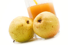 Pear juice. Healthy food in a glass of pear juice Royalty Free Stock Images