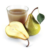 Pear juice in a glass of fruit Stock Image
