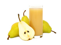 Pear juice (isolated) Stock Images