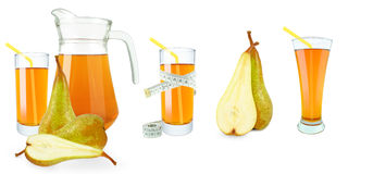 Pear juice and meter Royalty Free Stock Photography