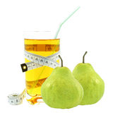 Pear juice and meter Stock Image
