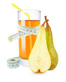 Pear juice and meter Royalty Free Stock Photo