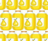 Pear juice pattern Royalty Free Stock Photo