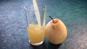 Pear juice. Cute sweet video stock video