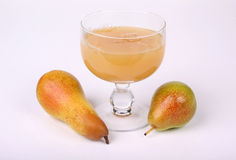 Pear juice with pears Royalty Free Stock Image