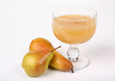 Pear juice with pears Stock Photos