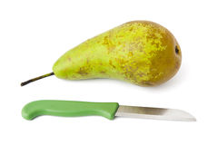 Pear and knife Royalty Free Stock Photography