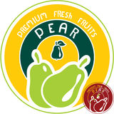 Pear label Stock Photos