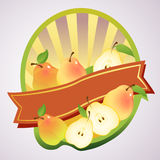Pear label Royalty Free Stock Images