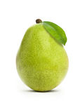 Pear with leaf Royalty Free Stock Photo