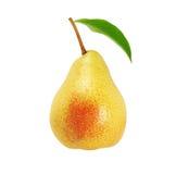 Pear with  leaf Stock Photos