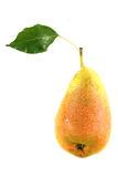 Pear with leaf Stock Image