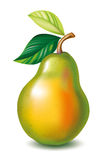 Pear with the leaves Royalty Free Stock Photos