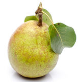 Pear with leaves Royalty Free Stock Photo