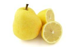 Pear with lemon Stock Photos