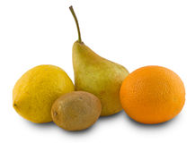Pear, lemon, orange, kiwi Royalty Free Stock Images