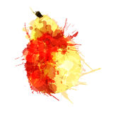 Pear made of colorful splashes. On white background Stock Photography
