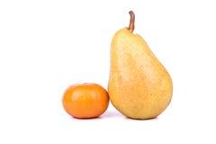 Pear and mandarin Stock Photo