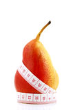 Pear measured the meter Stock Images