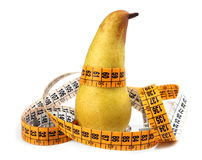 Pear measured the meter Royalty Free Stock Photos