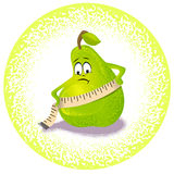 Pear and measuring range. Pear, which measures the parameters Stock Photos
