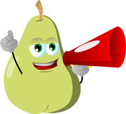 Pear with megaphone Stock Images