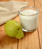 Pear and milk Royalty Free Stock Photo