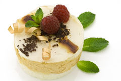 Pear mousse cake on white Royalty Free Stock Images
