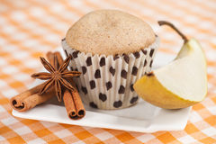 Pear muffin Stock Photos