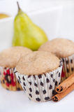 Pear muffins Stock Images