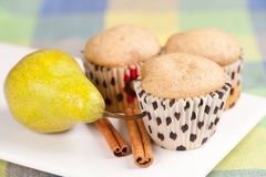 Pear muffins Royalty Free Stock Image