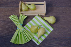 Pear on a napkin Royalty Free Stock Photography