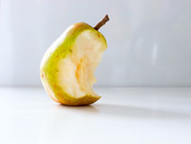 Pear nibble. The green vegetable Pear nibble Royalty Free Stock Photography